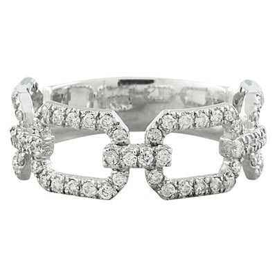 0.65 Carat Natural Diamond 14K White Gold Ring - Fashion Strada