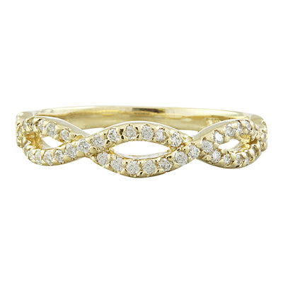 0.38 Carat Natural Diamond 14K Solid Yellow Gold Ring