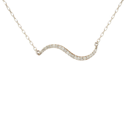 0.25 Carat Natural Diamond 14K White Gold Necklace - Fashion Strada