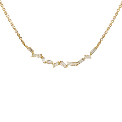 0.45 Carat Natural Diamond 14K Yellow Gold Necklace