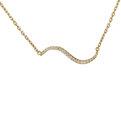 0.25 Carat Natural Diamond 14K Yellow Gold Necklace - Fashion Strada