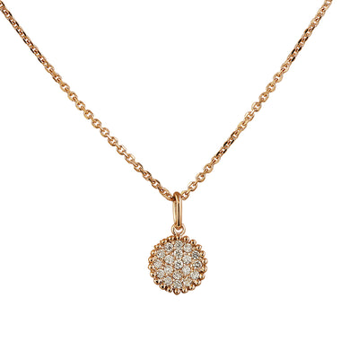 0.22 Carat Natural Diamond 14K Rose Gold Necklace - Fashion Strada