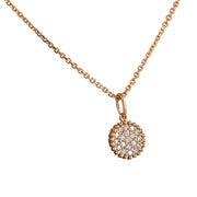 0.22 Carat Natural Diamond 14K Rose Gold Necklace