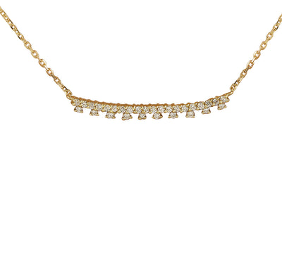 0.35 Carat Natural Diamond 14K Yellow Gold Necklace