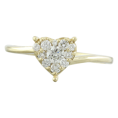 0.30 Carat Natural Diamond 14K Solid Yellow Gold Ring