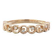 0.10 Carat Natural Diamond 14K Solid Rose Gold Ring