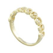 0.10 Carat Natural Diamond 14K Solid Yellow Gold Ring