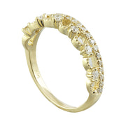 0.20 Carat Natural Diamond 14K Solid Yellow Gold Ring
