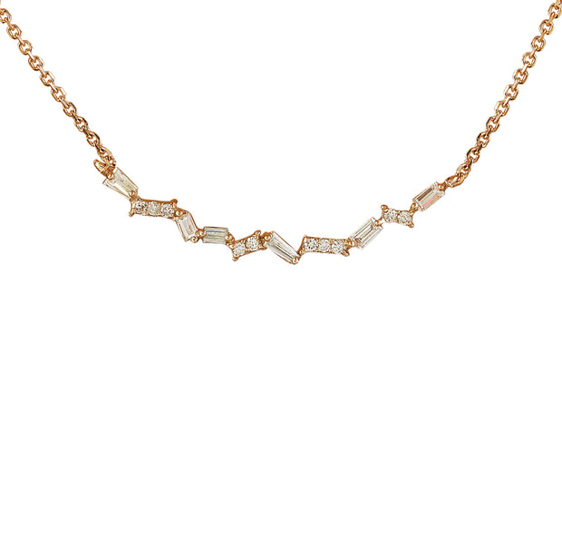 0.45 Carat Natural Diamond 14K Rose Gold Necklace
