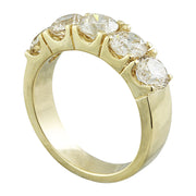 2.51 Carat Diamond 14K Yellow Gold Ring