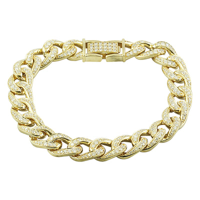 4.00 Carat Diamond 18K Yellow Gold Bracelet - Fashion Strada
