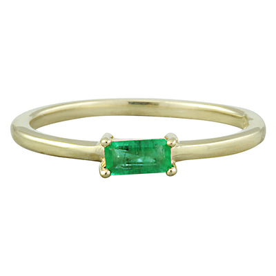 0.25 Carat Emerald 14K Yellow Gold Ring - Fashion Strada