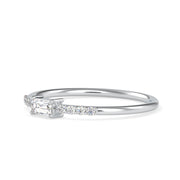 0.16 Carat Diamond 14K White Gold Ring - Fashion Strada