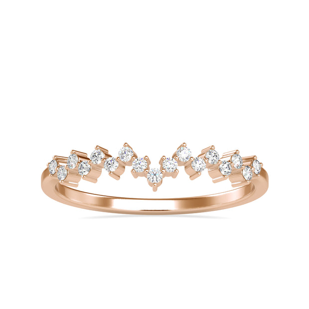 0.11 Carat Diamond 14K Rose Gold Ring - Fashion Strada