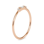 0.07 Carat Diamond 14K Rose Gold Ring - Fashion Strada