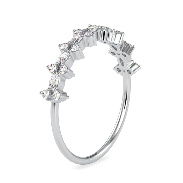 0.28 Carat Diamond 14K White Gold Ring - Fashion Strada
