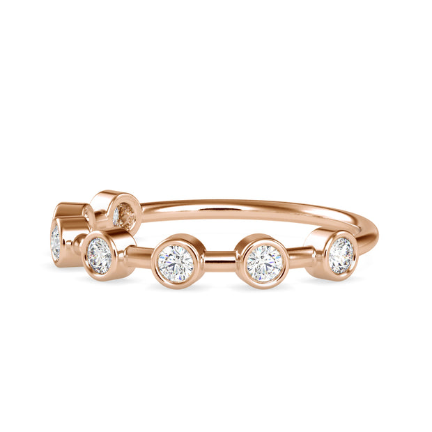 0.28 Carat Diamond 14K Rose Gold Ring - Fashion Strada