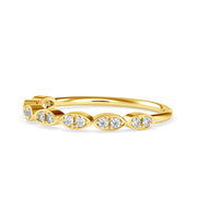 0.12 Carat Diamond 14K Yellow Gold Ring - Fashion Strada