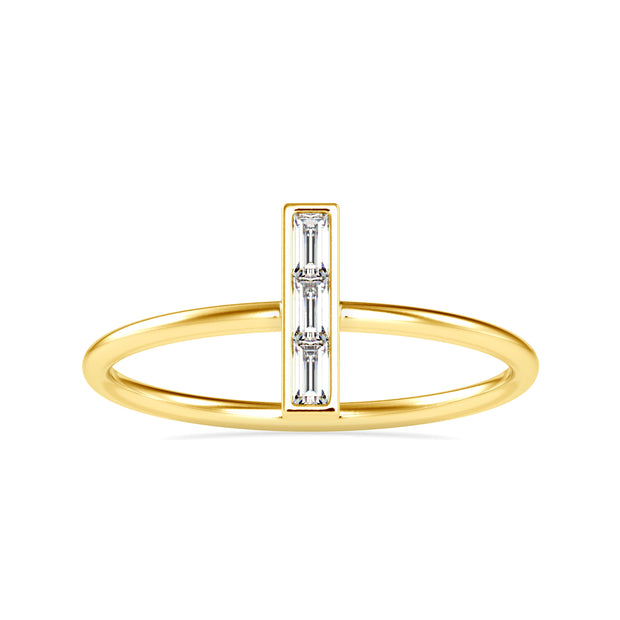 0.13 Carat Diamond 14K Yellow Gold Ring - Fashion Strada