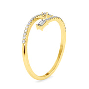 0.18 Carat Diamond 14K Yellow Gold Ring - Fashion Strada