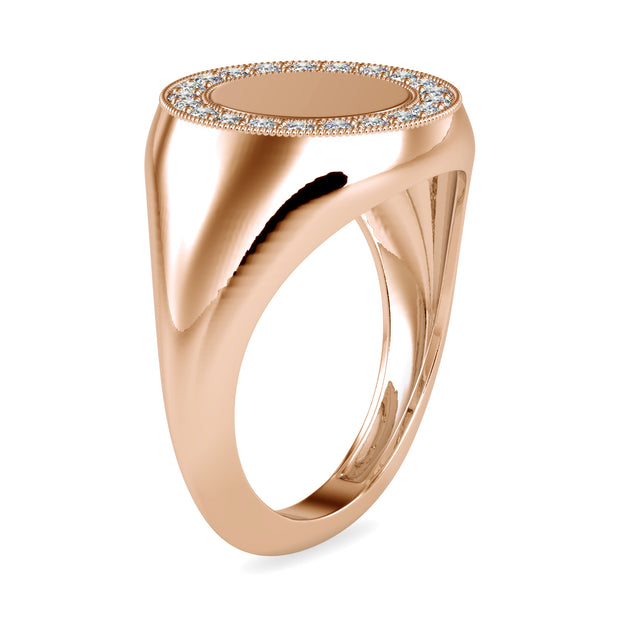 0.26 Carat Diamond 14K Rose Gold Ring - Fashion Strada