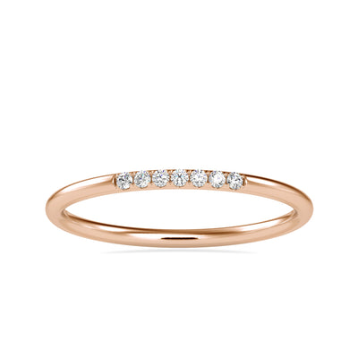0.05 Carat Diamond 14K Rose Gold Ring - Fashion Strada