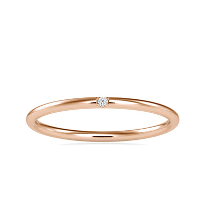 0.01 Carat Diamond 14K Rose Gold Ring - Fashion Strada