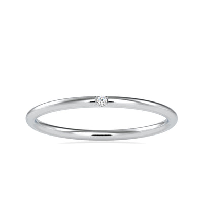 0.01 Carat Diamond 14K White Gold Ring - Fashion Strada