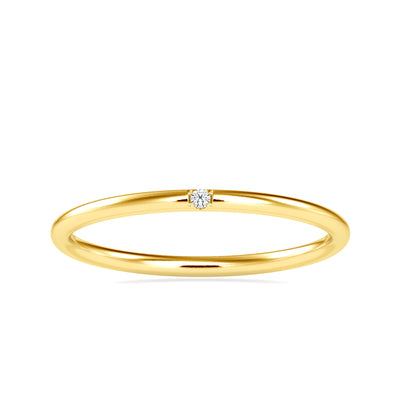 0.01 Carat Diamond 14K Yellow Gold Ring - Fashion Strada