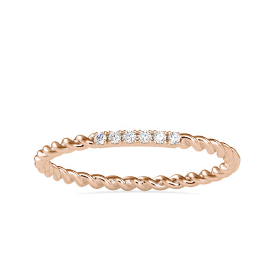 0.04 Carat Diamond 14K Rose Gold Ring - Fashion Strada