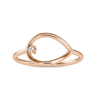0.015 Carat Diamond 14K Rose Gold Ring - Fashion Strada
