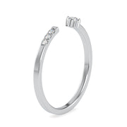 0.06 Carat Diamond 14K White Gold Ring - Fashion Strada
