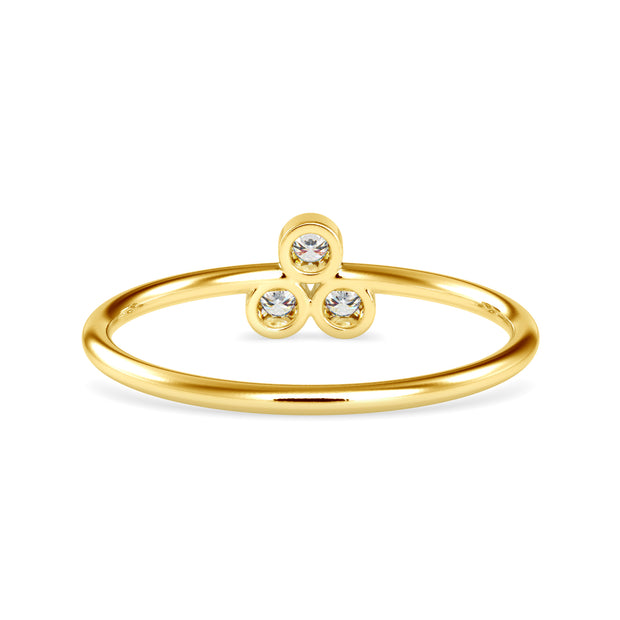 0.09 Carat Diamond 14K Yellow Gold Ring - Fashion Strada