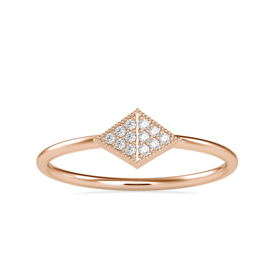 0.045 Carat Diamond 14K Rose Gold Ring - Fashion Strada