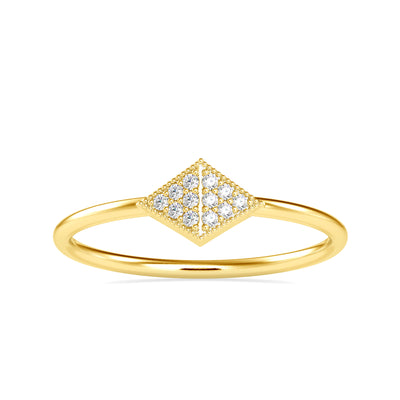 0.045 Carat Diamond 14K Yellow Gold Ring - Fashion Strada