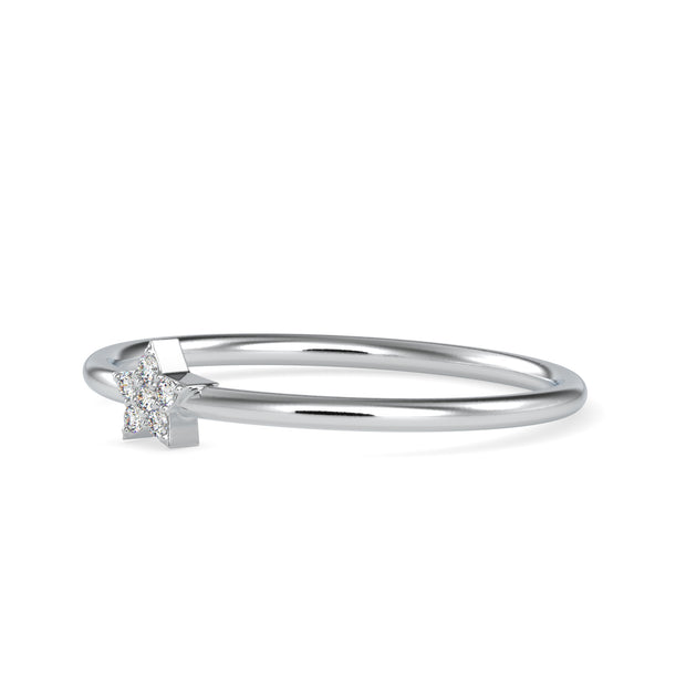 0.02 Carat Diamond 14K White Gold Ring - Fashion Strada