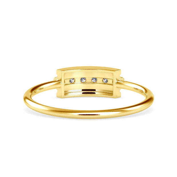 0.08 Carat Diamond 14K Yellow Gold Ring - Fashion Strada