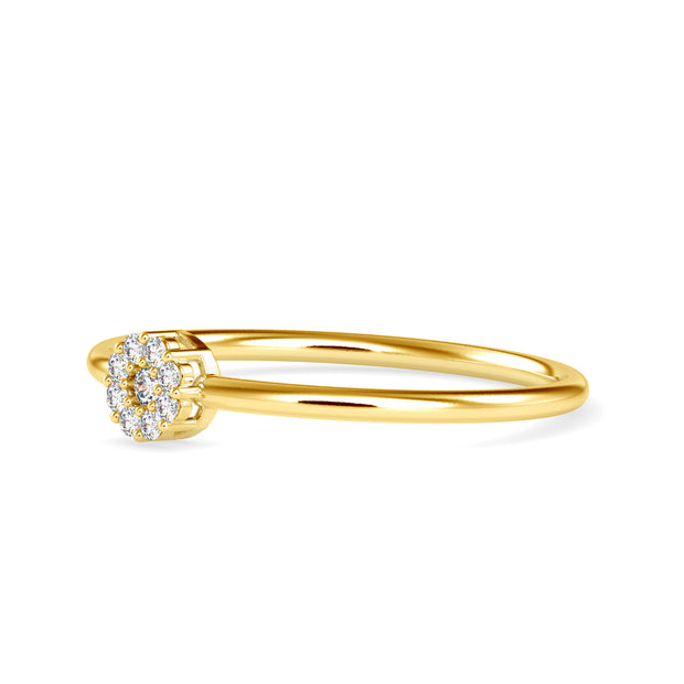 0.07 Carat Diamond 14K Yellow Gold Ring - Fashion Strada