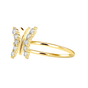 0.16 Carat Diamond 14K Yellow Gold Ring - Fashion Strada