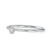 0.10 Carat Diamond 14K White Gold Ring - Fashion Strada
