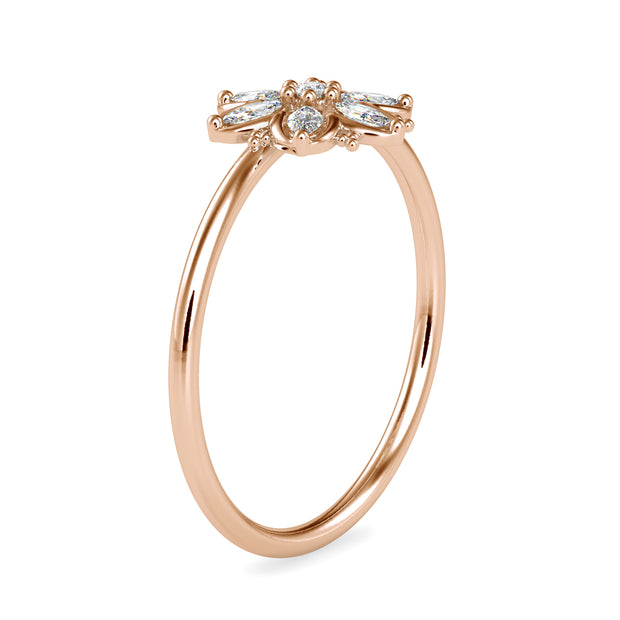 0.14 Carat Diamond 14K Rose Gold Ring - Fashion Strada