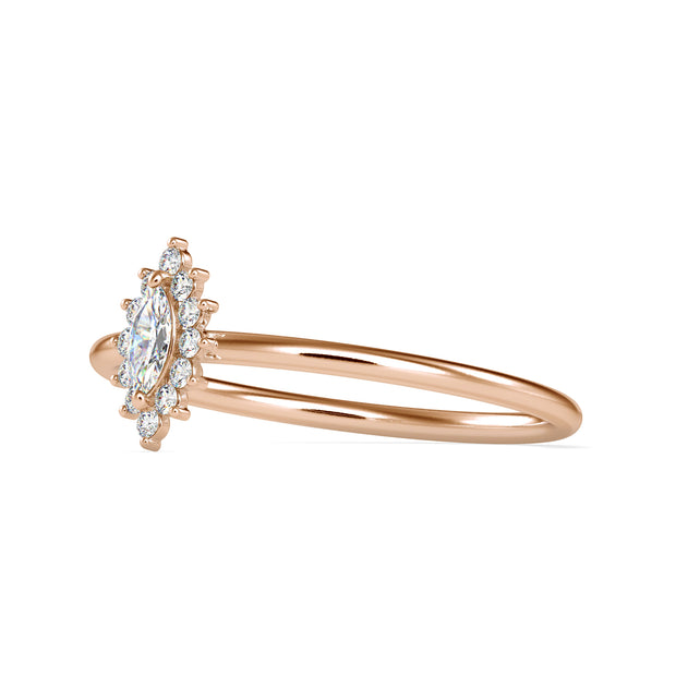 0.16 Carat Diamond 14K Rose Gold Ring - Fashion Strada
