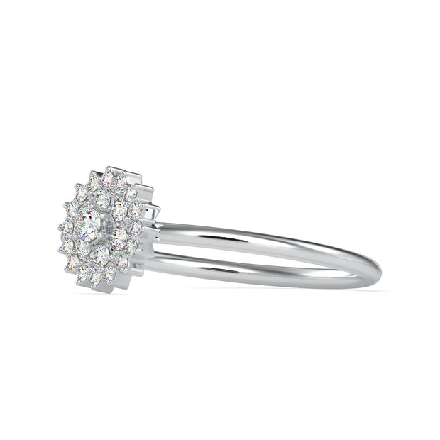 0.15 Carat Diamond 14K White Gold Ring - Fashion Strada
