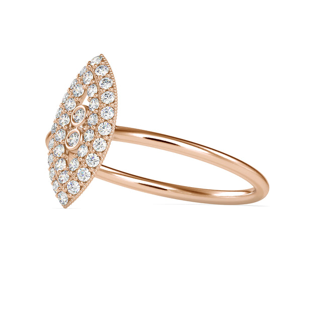 0.24 Carat Diamond 14K Rose Gold Ring - Fashion Strada