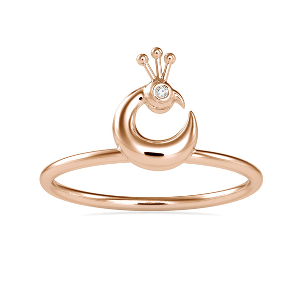 0.005 Carat Diamond 14K Rose Gold Ring - Fashion Strada
