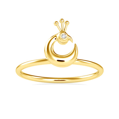 0.005 Carat Diamond 14K Yellow Gold Ring - Fashion Strada