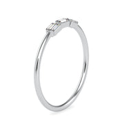 0.11 Carat Diamond 14K White Gold Ring - Fashion Strada