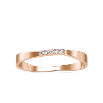 0.02 Carat Diamond 14K Rose Gold Ring - Fashion Strada