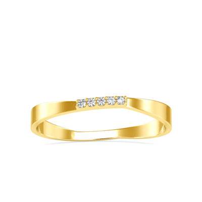 0.02 Carat Diamond 14K Yellow Gold Ring - Fashion Strada