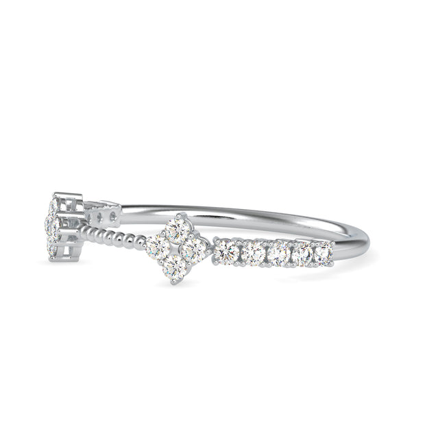 0.23 Carat Diamond 14K White Gold Ring - Fashion Strada